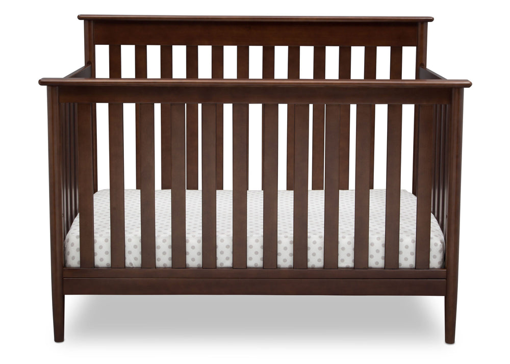 Delta Children Walnut (1316)) Greyson Signature 4-in-1 Crib, front view, d2d