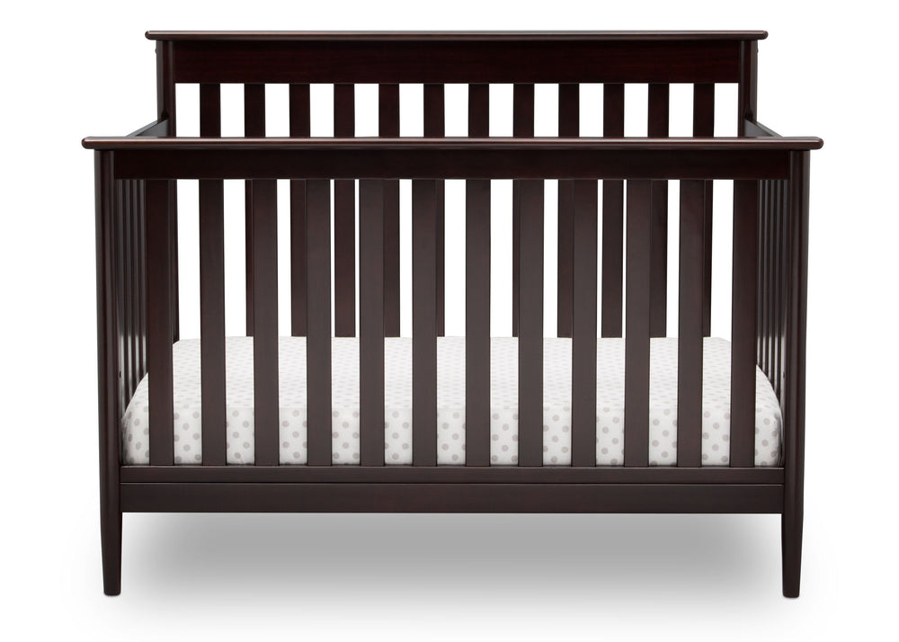 Delta Children Dark Chocolate (207) Greyson Signature 4-in-1 Crib, front view, c2c