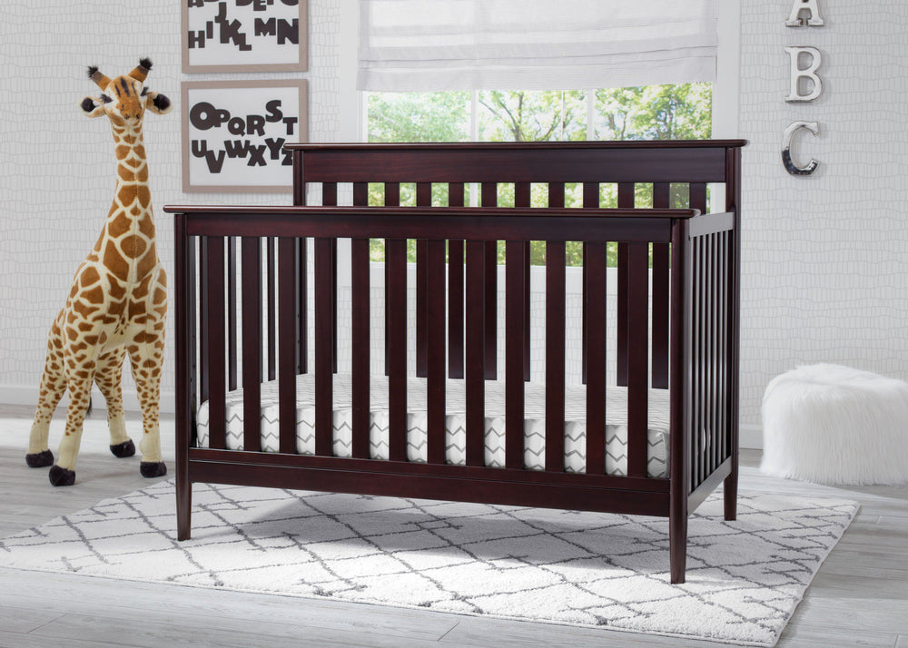 Delta Children Dark Chocolate (207) Greyson Signature 4-in-1 Crib, hangtag, c3c
