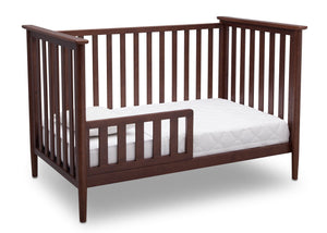 Delta Children Walnut (1316) Greyson 3-in-1 Crib, Angled Conversion to Toddler Bed, b4b
