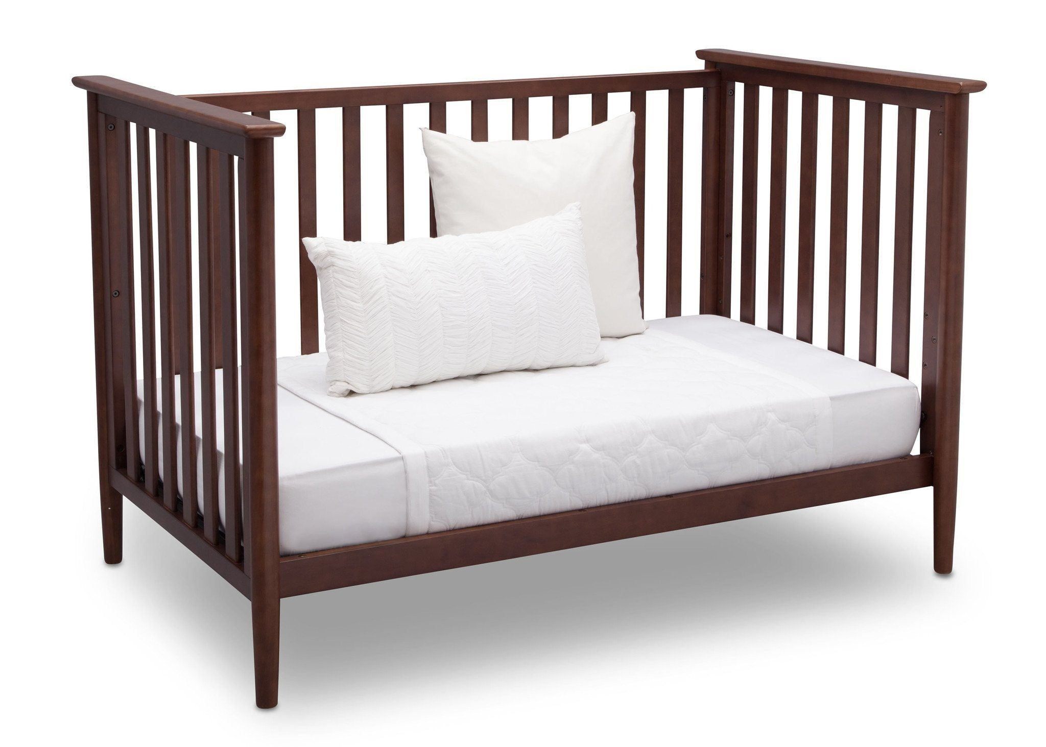 Delta Children Walnut (1316) Greyson 3-in-1 Crib, Angled Conversion to Daybed, b5b