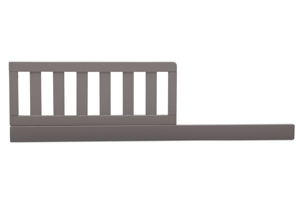 Delta Children Grey (026) Daybed/Toddler Guardrail Kit (553725), Straight Daybed, a1a  for Milo 3-in-1 Convertible Crib