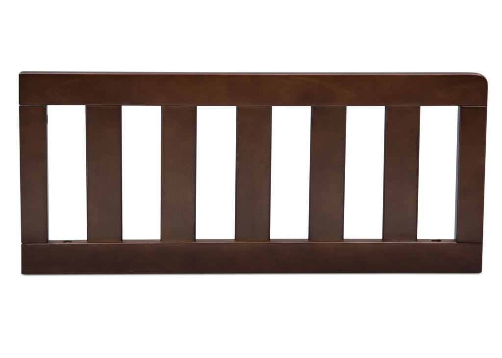 Delta Children Walnut (1316) Toddler Guardrail (553727), Front View d1d for Greyson Signature 4-in-1  Crib