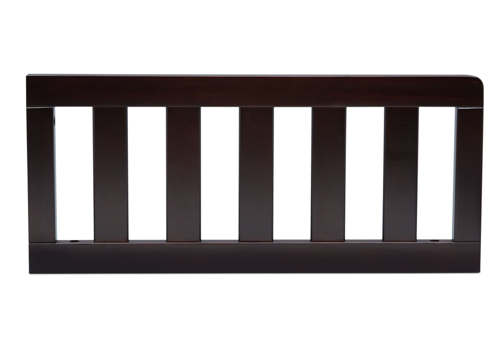 Delta Children Dark Chocolate (207) Toddler Guardrail (553727), Front View c1c for Greyson Signature 4-in-1 Crib