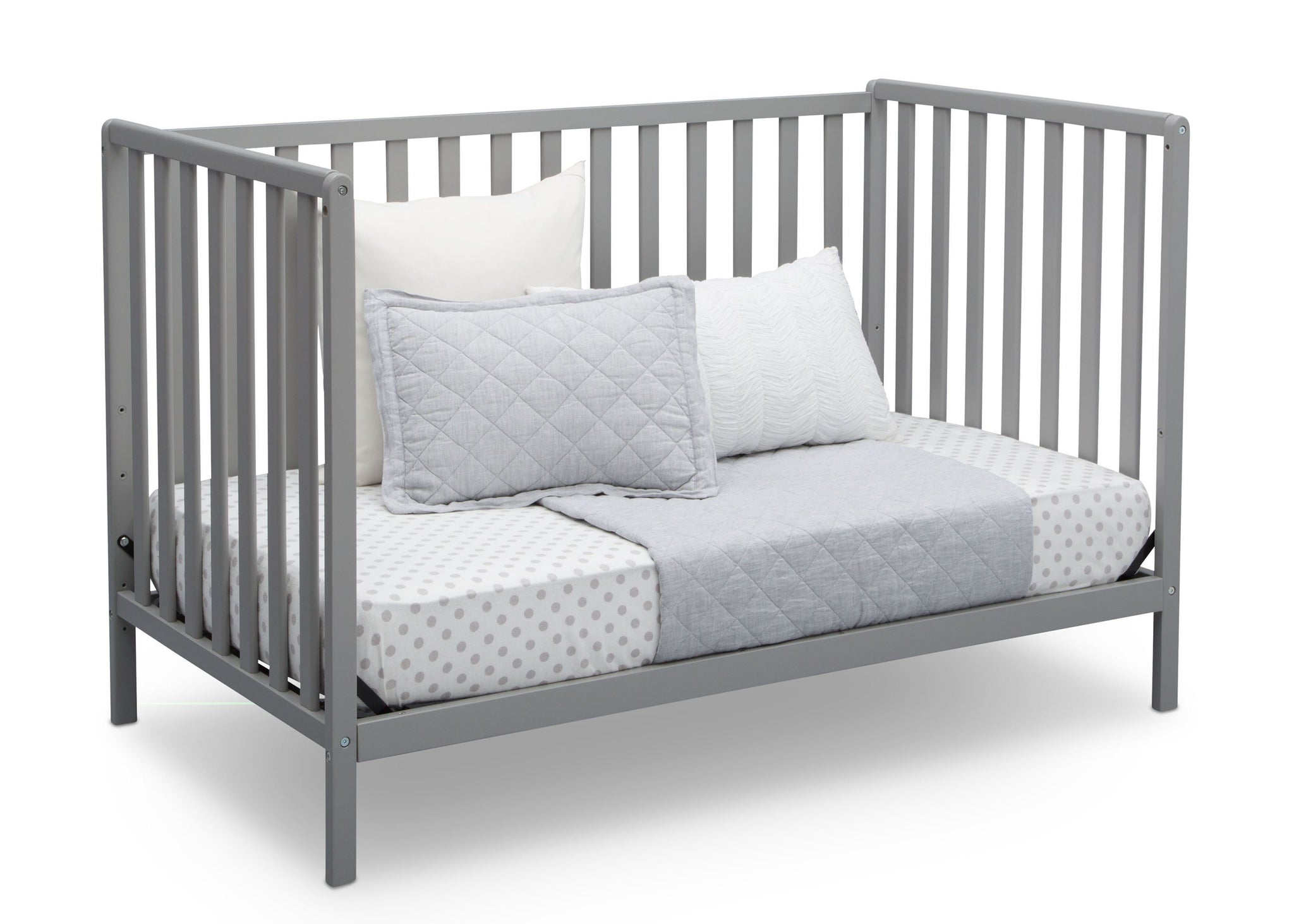 Delta Children Grey (026) Heartland 4-in-1 Convertible Crib, Daybed View a5a