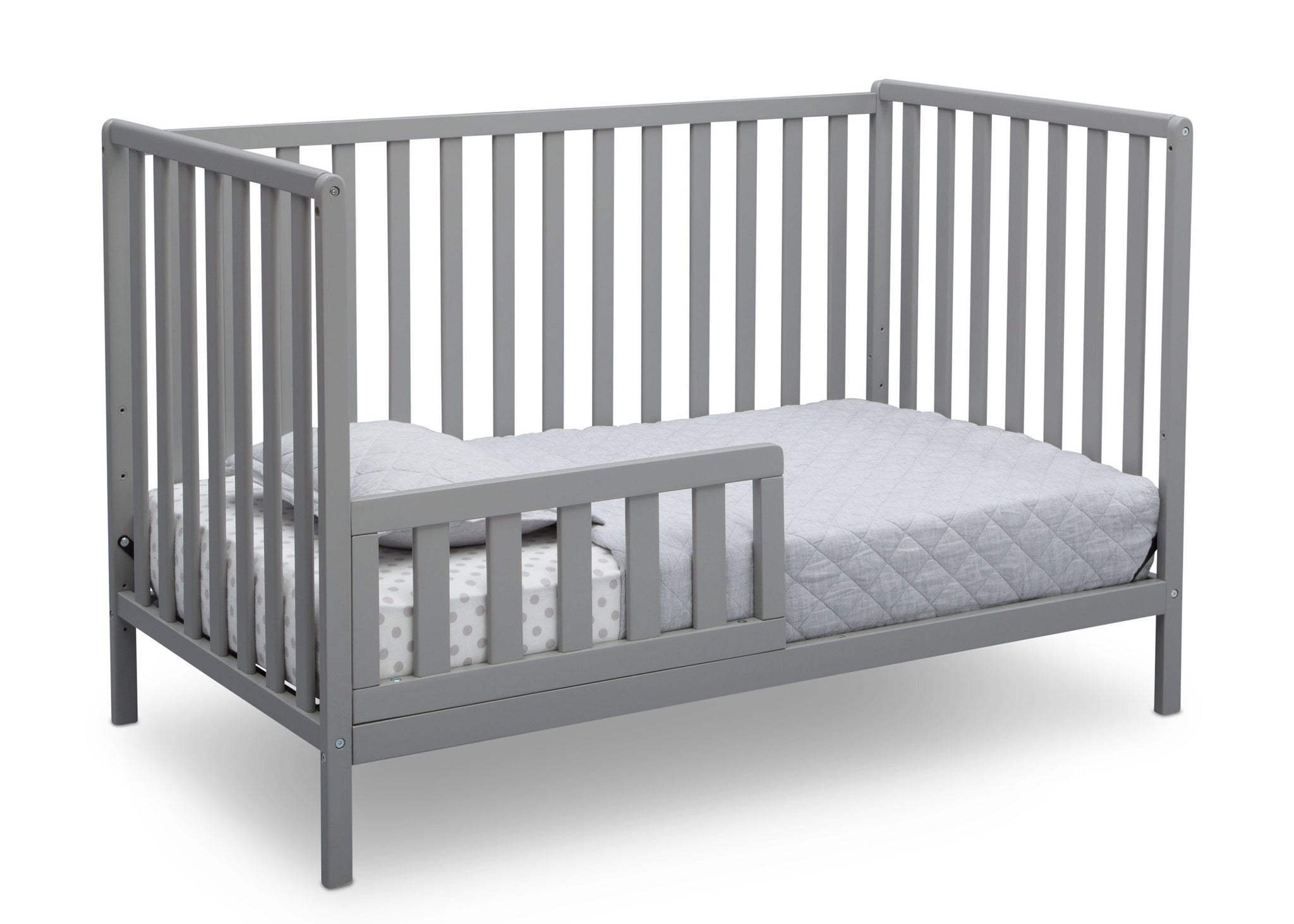 Delta Children Grey (026) Heartland 4-in-1 Convertible Crib, Toddler Bed View a4a