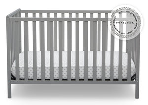Delta Children Grey (026) Heartland 4-in-1 Convertible Crib, Front View a2a