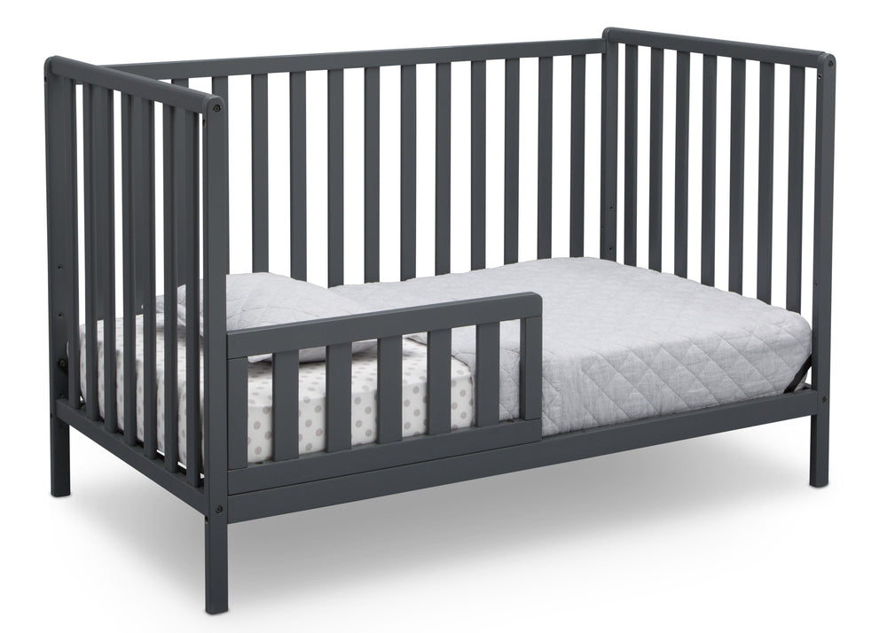 Delta Children Charcoal Grey (029) Heartland 4-in-1 Convertible Crib, Toddler Bed View b4b