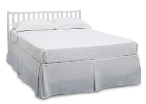 Delta Children Bianca White (130) Heartland 4-in-1 Convertible Crib, Full Size Bed View c6c