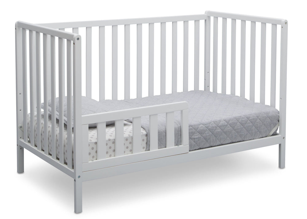Delta Children Bianca White (130) Heartland 4-in-1 Convertible Crib, Toddler Bed View c4c