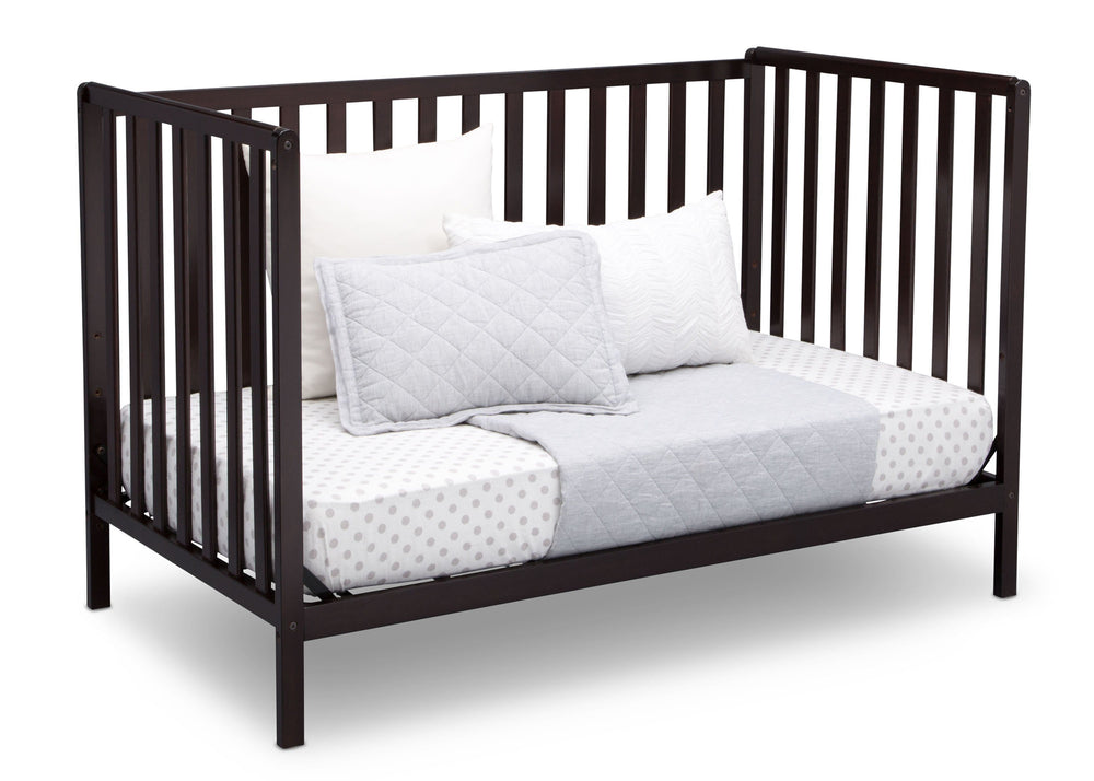 Delta Children Dark Chocolate (207) Heartland 4-in-1 Convertible Crib, Daybed View d5d