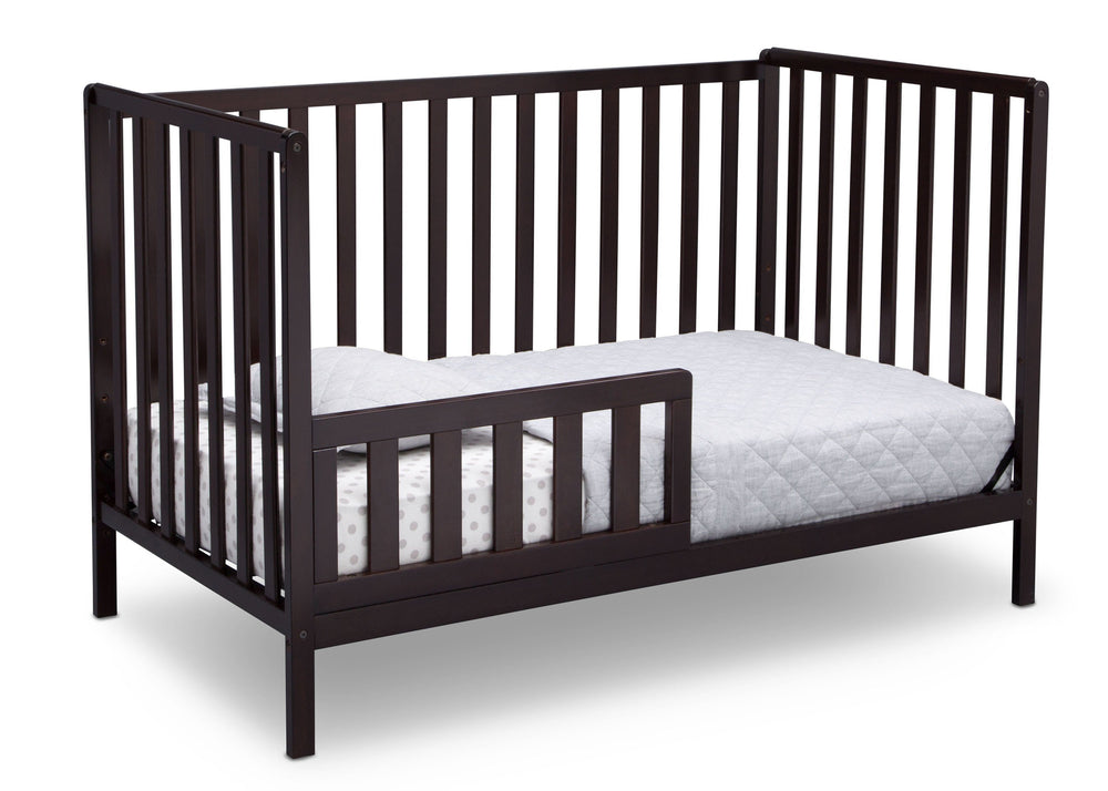 Delta Children Dark Chocolate (207) Heartland 4-in-1 Convertible Crib, Toddler Bed View d4d