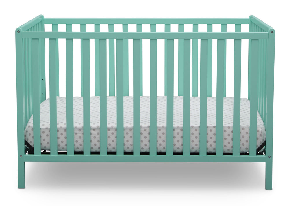 Delta Children Aqua (347) Heartland 4-in-1 Convertible Crib, Front View e2e
