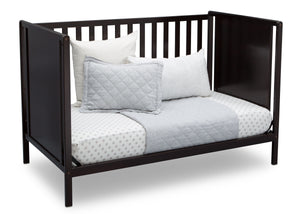 Delta Children Dark Chocolate (207) Heartland Classic 4-in-1 Convertible Crib, Day Bed Angle, d5d