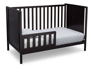 Delta Children Dark Chocolate (207) Heartland Classic 4-in-1 Convertible Crib, Toddler Bed Angle, d4d