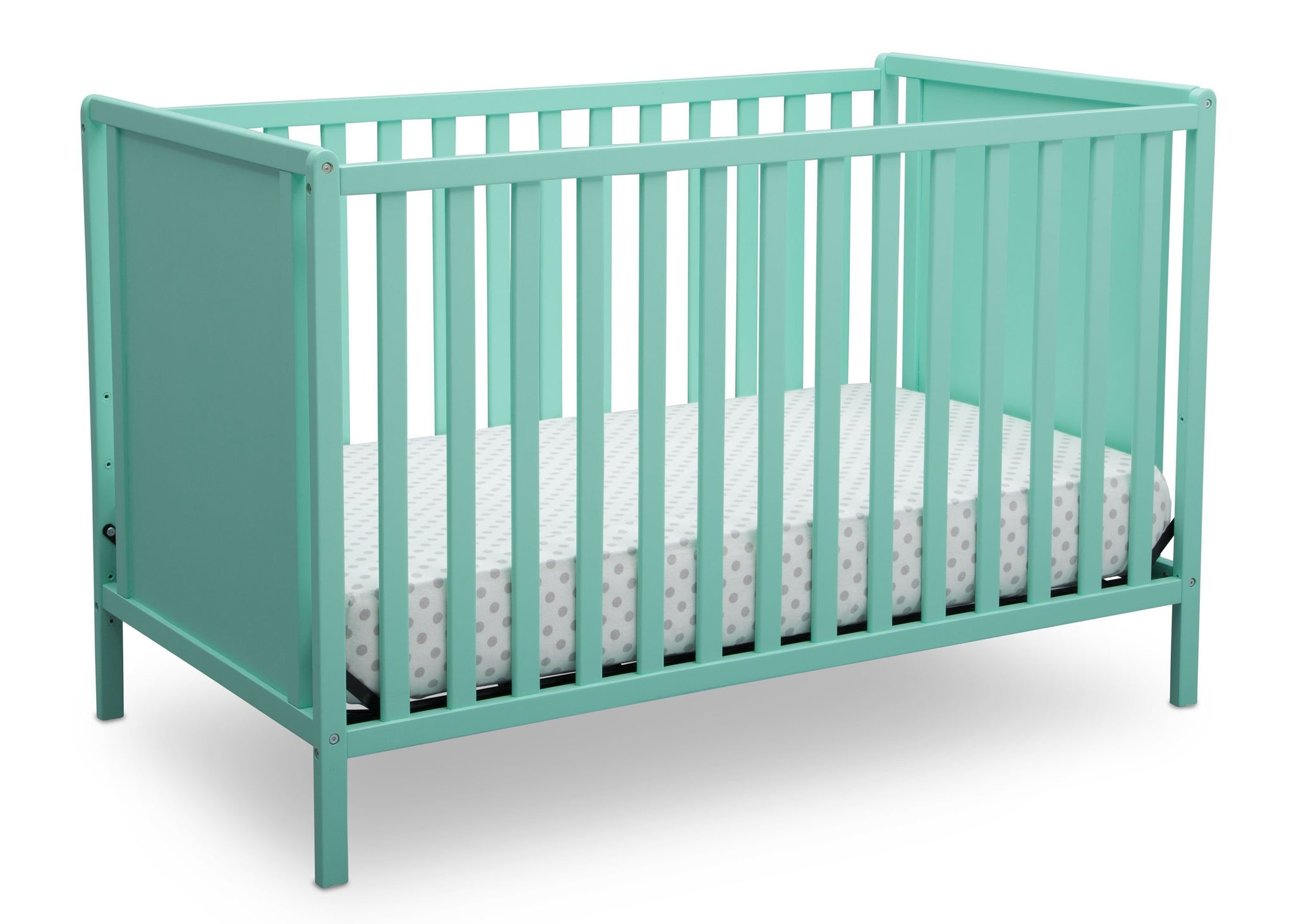 Delta Children Aqua (347) Heartland Classic 4-in-1 Convertible Crib, Crib Angle, e3e