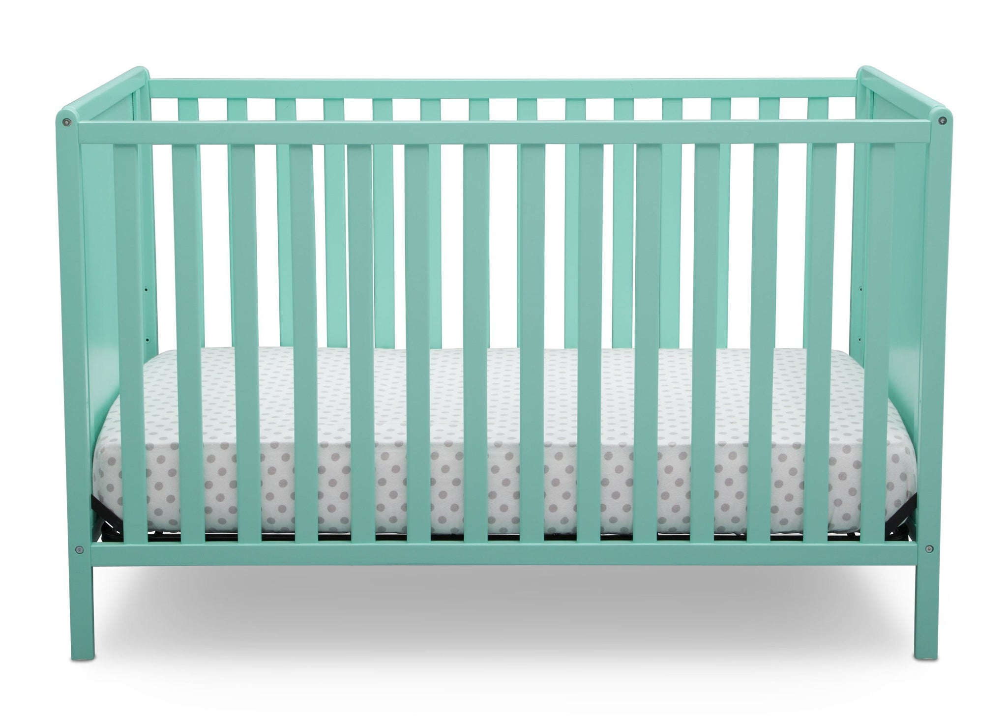 Delta Children Aqua (347) Heartland Classic 4-in-1 Convertible Crib, Crib Front, e2e