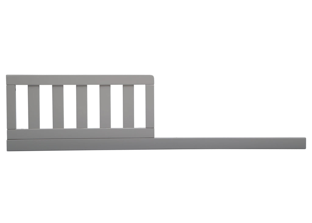 Delta Children Grey (026) Daybed/Toddler Guardrail Kit, front view d1d for Heartland 4-in-1 Convertible Crib