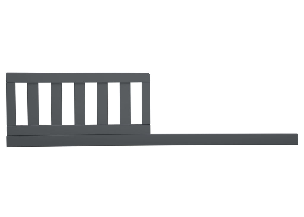 Delta Children Charcoal Grey (029) Daybed/Toddler Guardrail Kit, front view e1e for Heartland 4-in-1 Convertible Crib