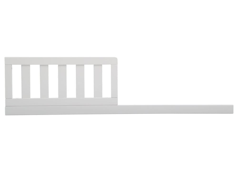 Delta Children Bianca White (130) Daybed/Toddler Guardrail Kit, front view a1a