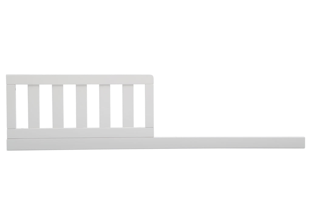 Delta Children Bianca White (130) Daybed/Toddler Guardrail Kit, front view a1a for Heartland 4-in-1 Convertible Crib