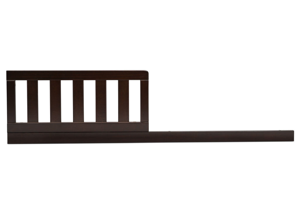 Delta Children Dark Chocolate (207) Daybed/Toddler Guardrail Kit, front view c1c for Heartland 4-in-1 Convertible Crib