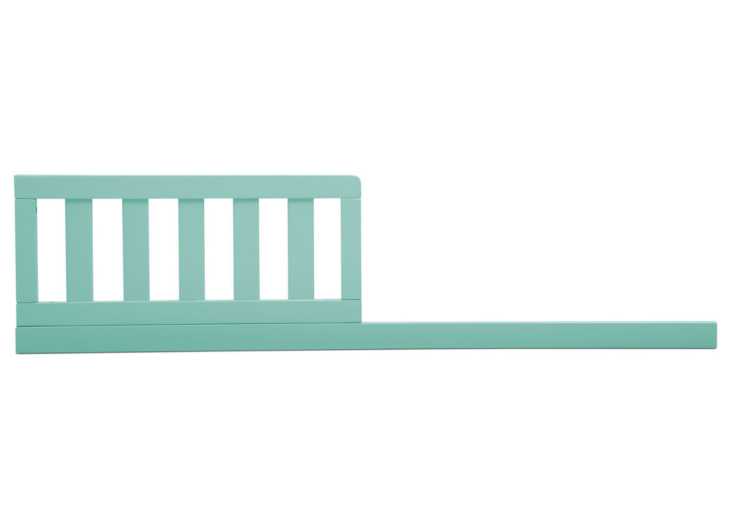 Delta Children Aqua (347) Daybed/Toddler Guardrail Kit, front view b1b for Heartland 4-in-1 Convertible Crib