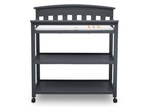 Delta Children Charcoal Grey (029) Bennington Elite Changing Table (556010), Straight, a3a