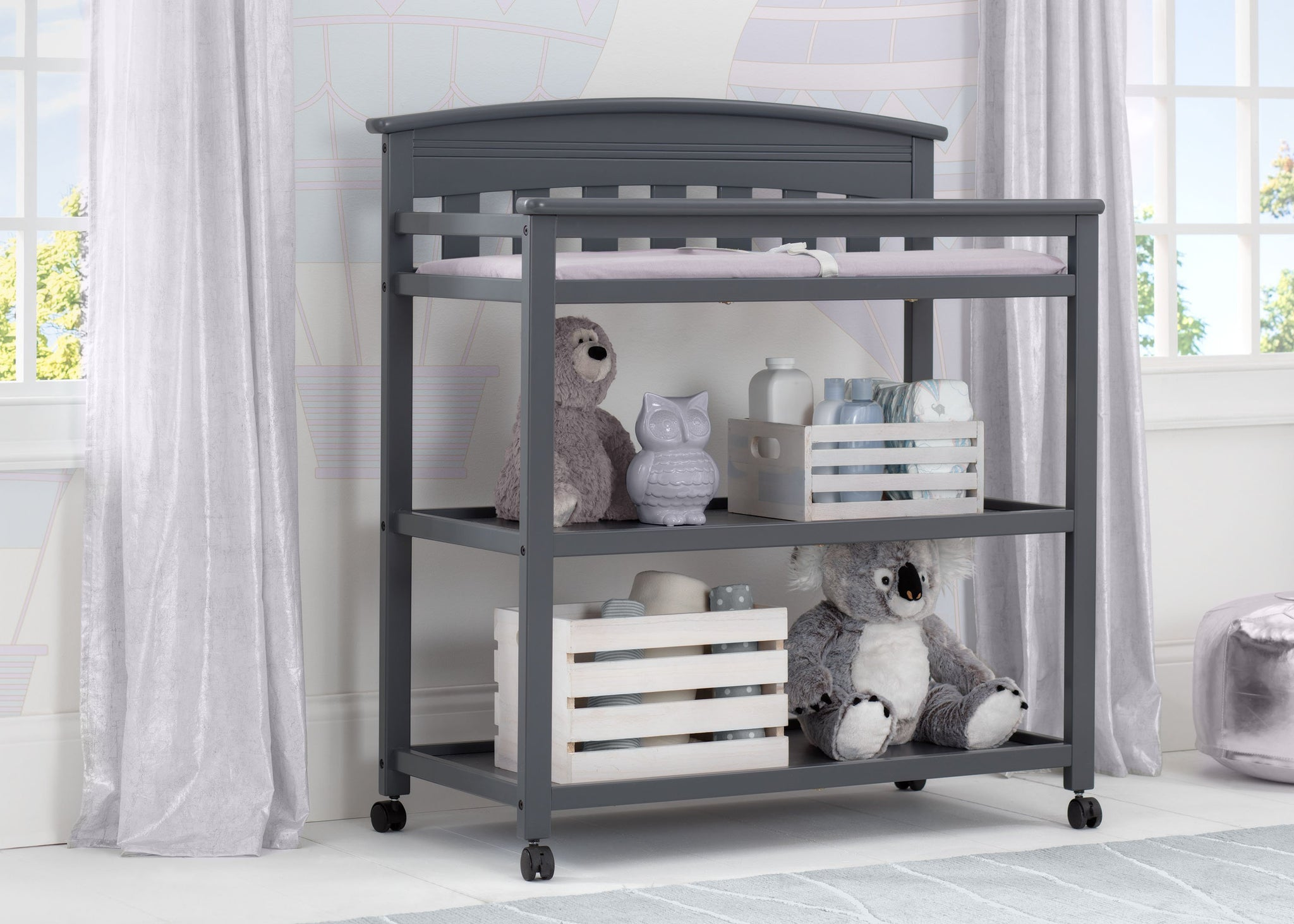 Delta Children Charcoal Grey (029) Bennington Elite Changing Table (556010), Room, a1a