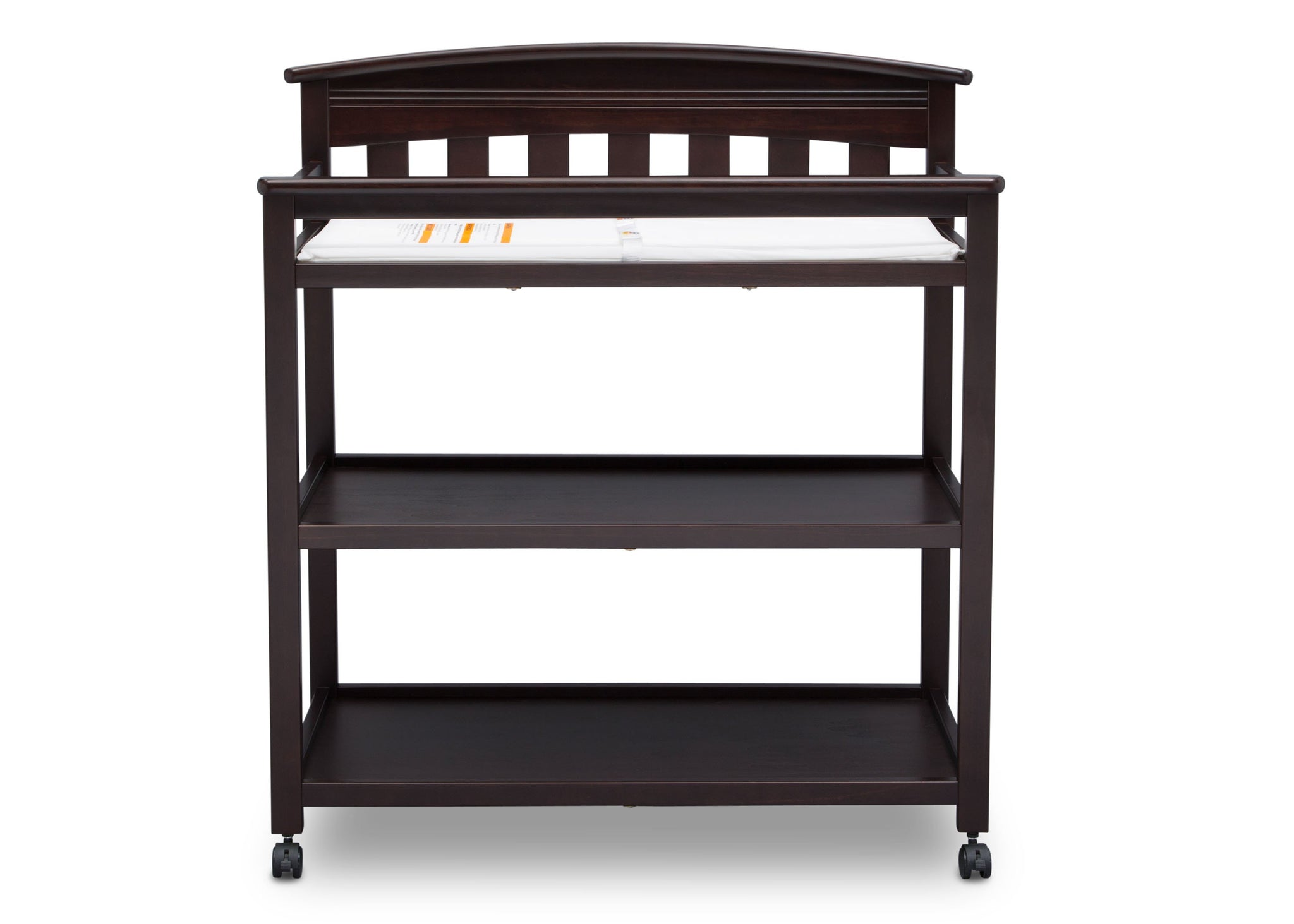 Delta Children Dark Espresso (958) Bennington Elite Changing Table (556010), Straight, c3c