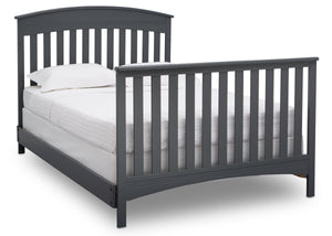 Delta Children Charcoal Grey (029) Bennington Elite Arched 4-in-1 Convertible Crib, Full Size Bed, a6a