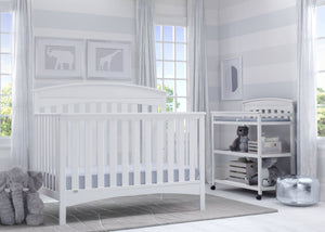 Delta Children Bianca (130) Bennington Elite Arched 4-in-1 Convertible Crib, Room, b1b