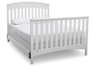 Delta Children Bianca (130) Bennington Elite Arched 4-in-1 Convertible Crib, Full Size Bed, b6b