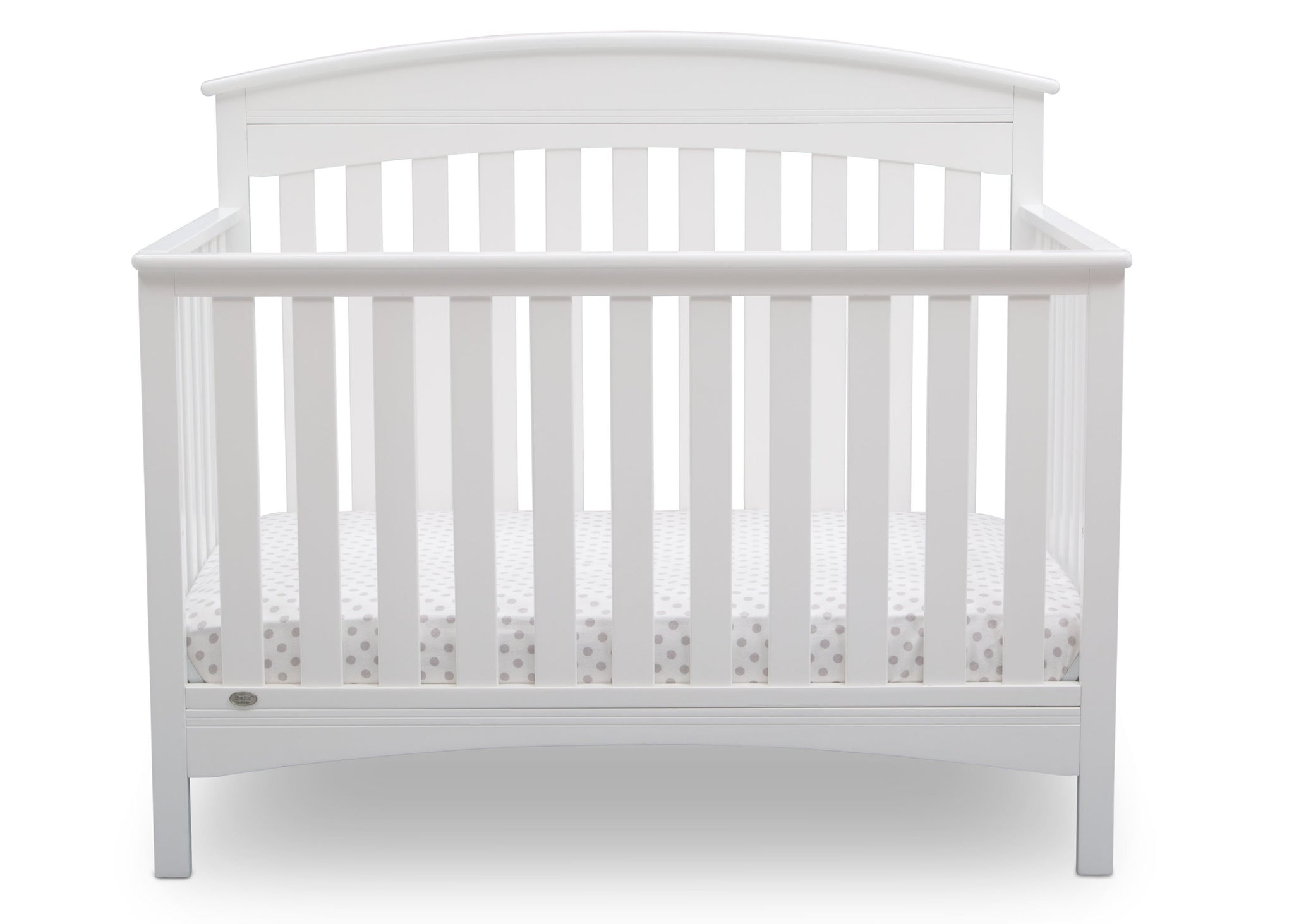 Delta Children Bianca (130) Bennington Elite Arched 4-in-1 Convertible Crib, Crib Front, b2b