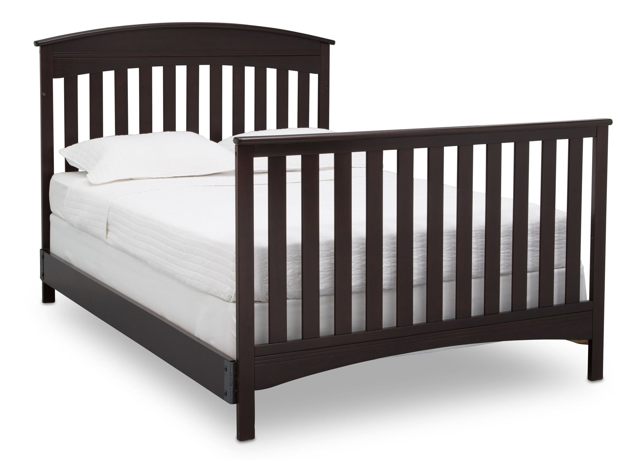 Delta Children Dark Espresso (958) Bennington Elite Arched 4-in-1 Convertible Crib, Full Size Bed, c6c