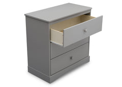 Delta Children Grey (026) Skylar 3 Drawer Dresser w Changing Top (558030), Detail, b4b