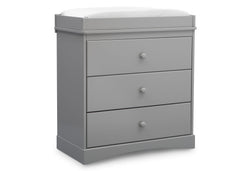 Delta Children Grey (026) Skylar 3 Drawer Dresser w Changing Top (558030), Sideview, b3b
