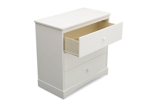 Delta Children Bianca White (130) Skylar 3 Drawer Dresser w Changing Top (558030), Detail, c4c