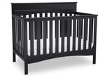 Delta Children Ebony (0011) Skylar 4-in-1 Convertible Crib (558150), Crib, a2a