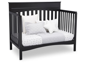 Delta Children Ebony (0011) Skylar 4-in-1 Convertible Crib (558150), Daybed, a3a