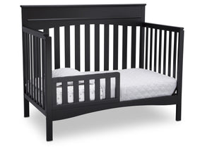 Delta Children Ebony (0011) Skylar 4-in-1 Convertible Crib (558150), Toddler Bed, a4a