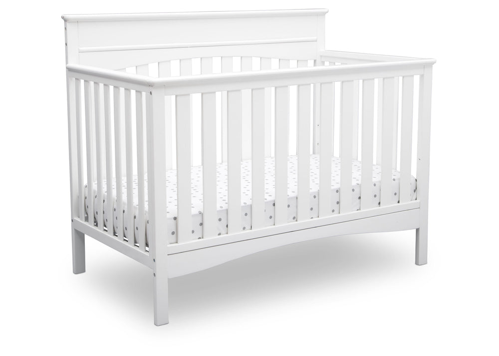 Delta Children Bianca White (130) Skylar 4-in-1 Convertible Crib (558150), Crib, c2c
