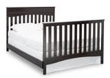 Delta Children Dark Chocolate (207) Skylar 4-in-1 Convertible Crib (558150), Full Size Bed with Footboard, d5d