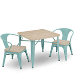 Wood + Metal Kids Table and Chair Set
