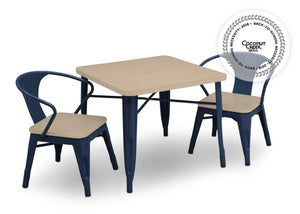 Delta Children Navy with Driftwood (1314) Bistro Kids Play Table (560302), Table and Chair Right Silo, c4c