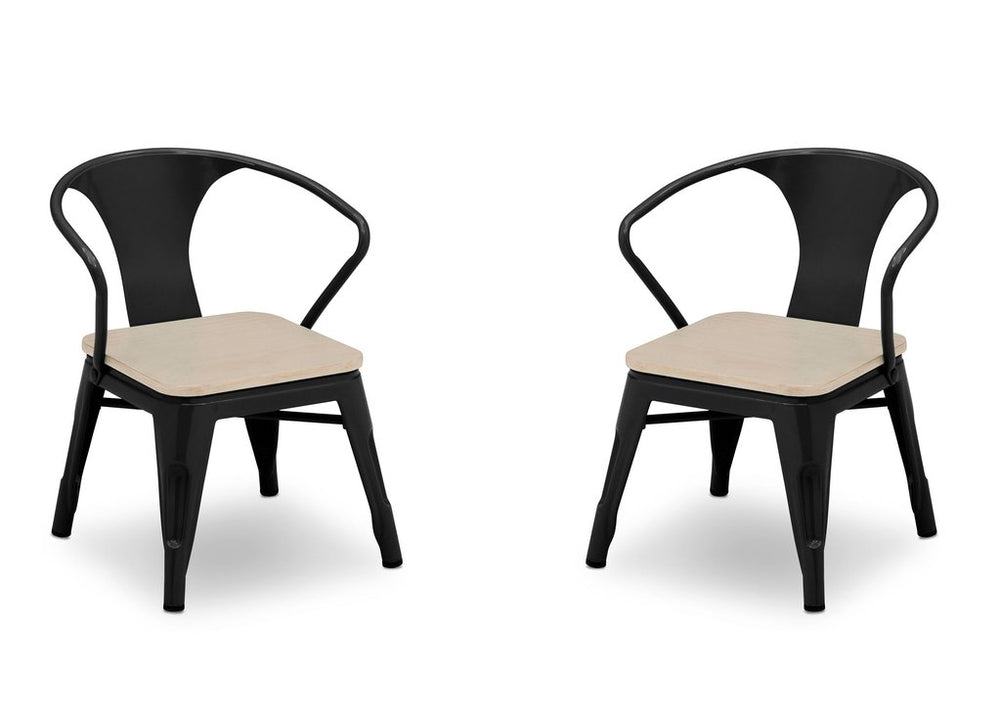 Delta Children Black with Driftwood (1312) Bistro Kids Table and Chair Set, Chairs Viewa5a