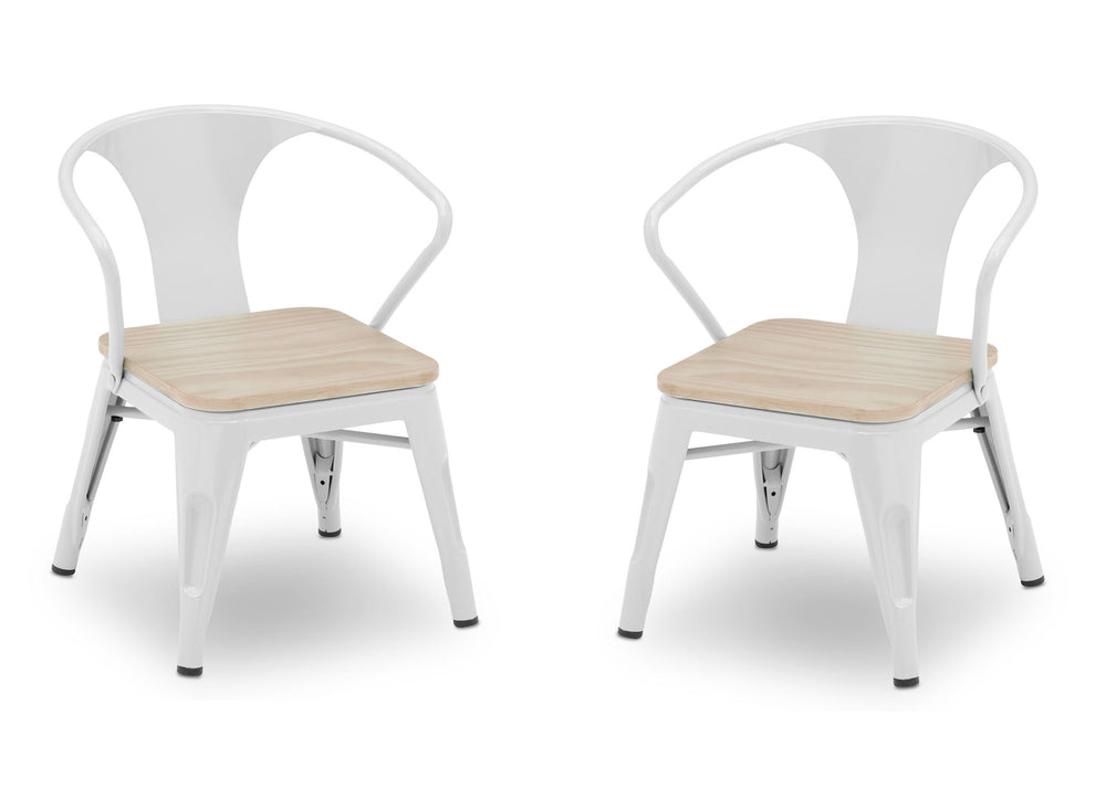 Delta Children White with Driftwood (1313) Bistro 2-Piece Chair Set (560301), Chairs Silo b3b