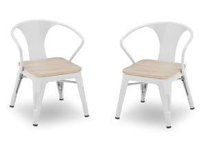 Delta Children White with Driftwood (1313) Bistro Kids Play Table and Chair Set, Chairs View, b5b