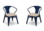 Delta Children Navy with Driftwood (1314) Bistro Kids Play Table and Chair Set, Chairs view, c5c