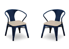 Delta Children Navy with Driftwood (1314) Bistro 2-Piece Chair Set (560301), Chairs Silo c3c
